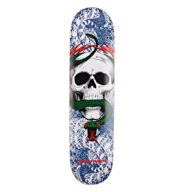 Powell Peralta One Off Skull & Snake Skateboard Deck - Blue/Red 7.625