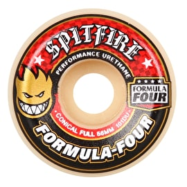 Spitfire Formula Four Conical Full 101D Skateboard Wheels - Red (Pack of 4)