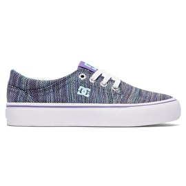 DC Trase TX SE Kids Skate Shoes - Multi 2