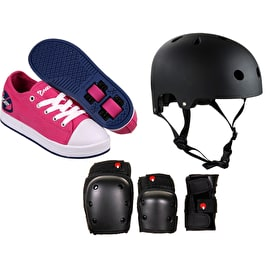 Heelys X2 Fresh - Fuchsia/Navy Bundle