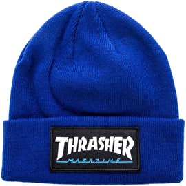 Thrasher Logo Patch Beanie - Navy