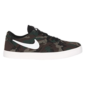 Nike SB Kids Check PRM Skate Shoes - Black/Summit White/Medium Olive