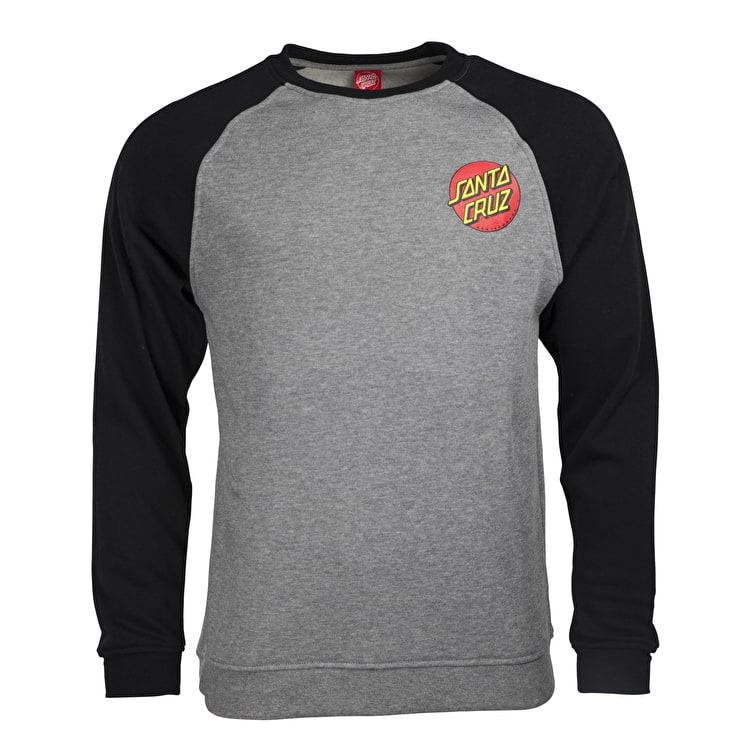 Santa Cruz Small Dot Crewneck - Black/Dark Heather