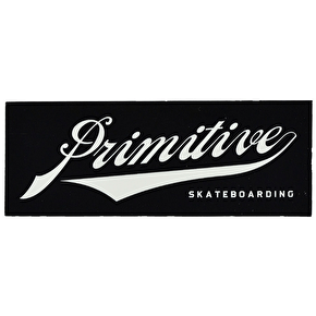 Primitive Union Script Sticker - Black