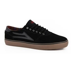 Lakai Manchester Lean Skate Shoes - Black/Gum Suede