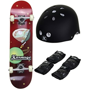 Karnage Alien Red Skateboard Bundle