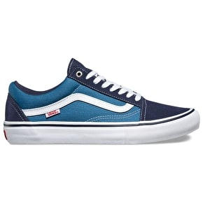 Vans Old Skool Pro Shoes - Navy/White