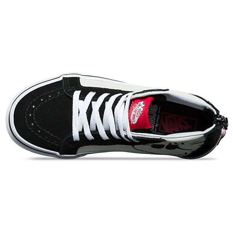 Vans x Peanuts SK8-Hi Zip Kids Shoes - Joe Cool/Black