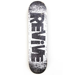 ReVive White Chunk Skateboard Deck