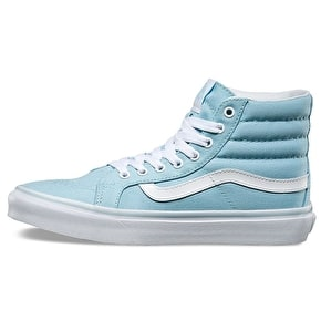 Vans Sk8-Hi Slim Skate Shoes - Crystal Blue/True White