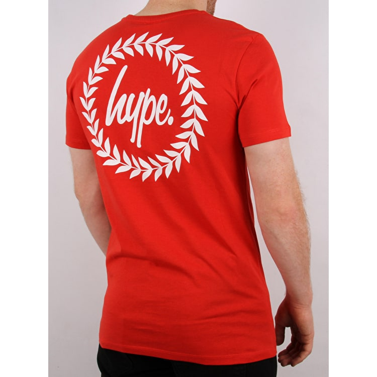 Hype Back Crest T Shirt - Red/White