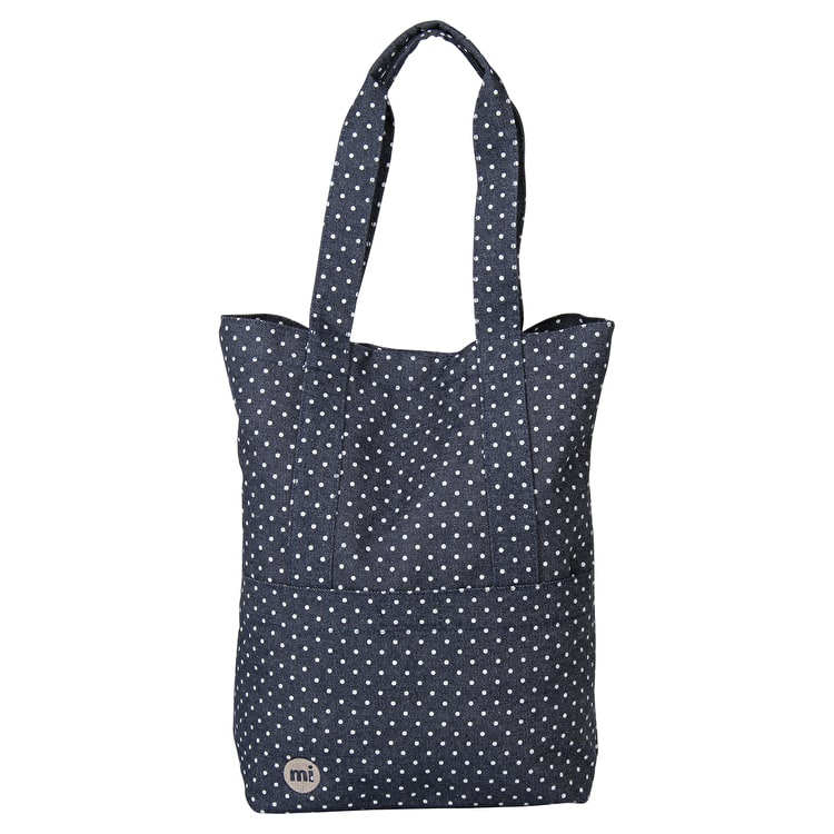 Mi-Pac Denim Spot Tote Bag - Indigo/White