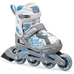 B-Stock Bladerunner Kids Inline Skates - Phaser Silver/Blue Medium (Box Damage)