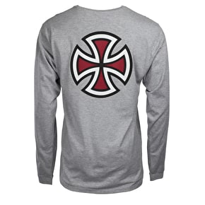 Independent Bar Cross Longsleeve T-Shirt - Dark Heather