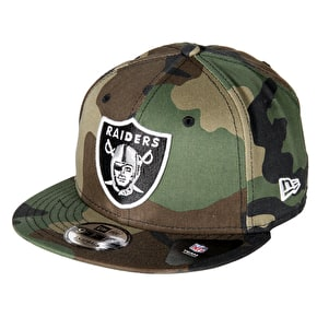 New Era 9FIFTY Oakland Raiders Cap - Woodland Camo