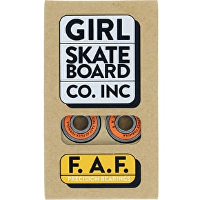 Girl Skateboard Bearings - FAF (Pack of 8)