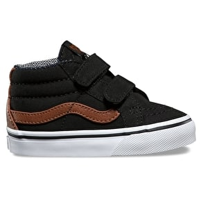 Vans Sk8-Mid Reissue V Skate Shoes - (C&L) Black/Material Mix