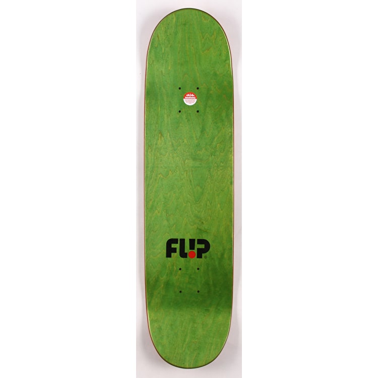 Flip Team Odyssey Stencil Skateboard Deck - Red 8.13""