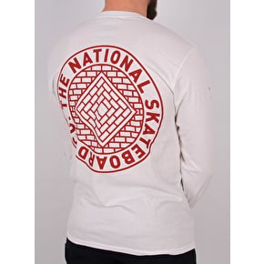National Skateboard Co Team Longsleeve T-Shirt - White