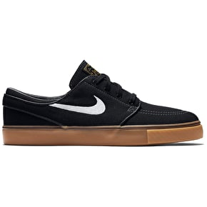Nike SB Stefan Janoski Shoes - Black/White/Metallic Gold