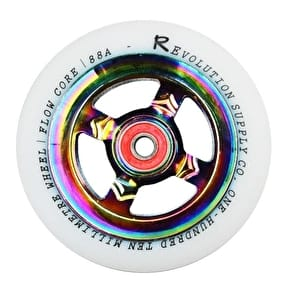 Revolution Flow Core 110mm Scooter Wheel - White/Neochrome