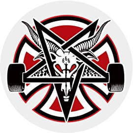 Independent x Thrasher Pentagram Cross Skateboard Sticker - 2.75