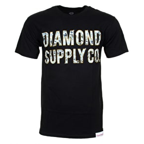 Diamond Bezel T-Shirt - Black