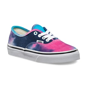 Vans Authentic Kids Shoes - (Tie Dye) Pink/Blue