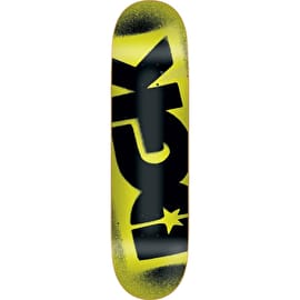DGK Florescent Logo Skateboard Deck - Yellow 8.25