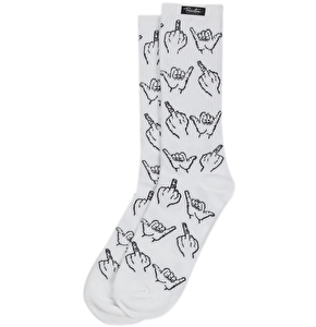 Primitive HLFU Socks - White
