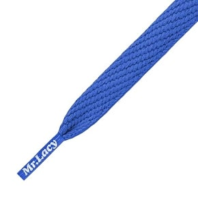 Mr Lacy Kids' Shoelaces - Junior Flatties Royal Blue