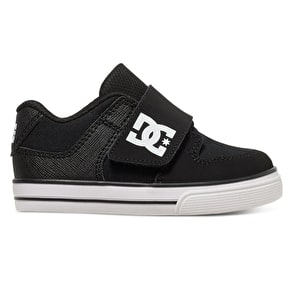 DC Pure V Toddler Skate Shoes - Black/White
