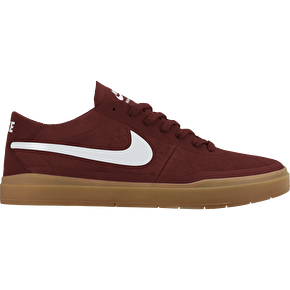 Nike SB Bruin Hyperfeel Shoes - Dark Cayenne/White