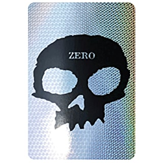 Zero Single Skull Skateboard Sticker - Prism 6