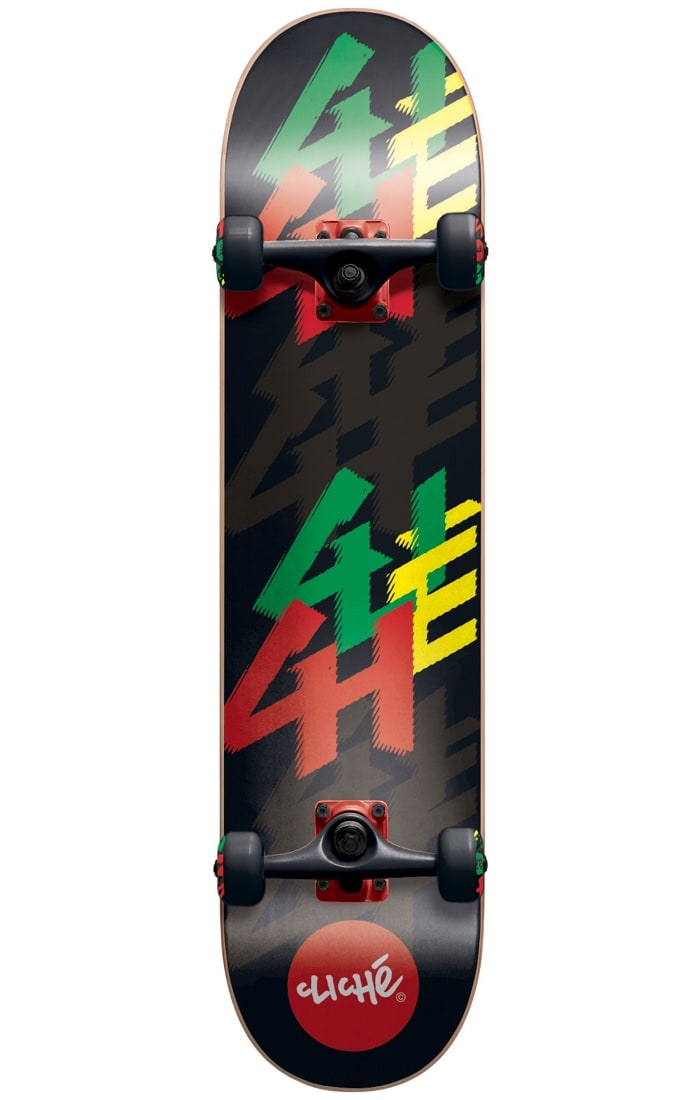 Image of Cliche Ledge Complete Skateboard - Rasta 7.75""