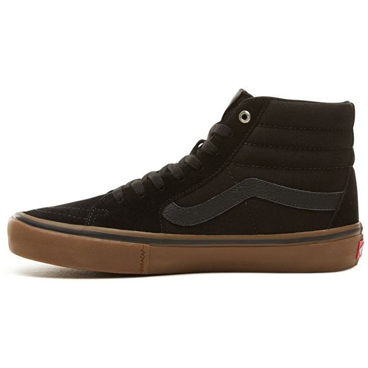 Vans Sk8-Hi High Top Pro Skate Shoes - Black/Gum