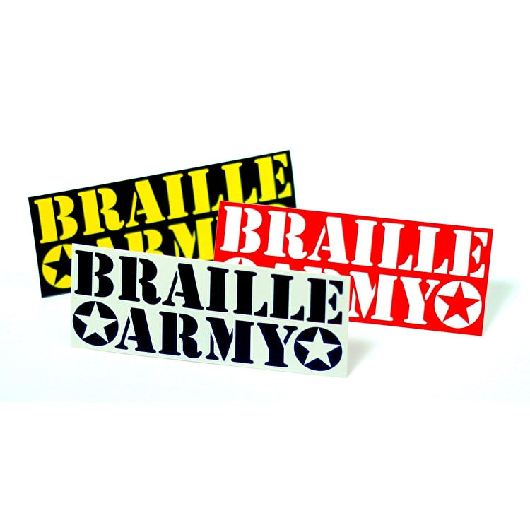 Braille Army Skateboard Sticker - Random Colour