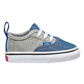 Vans Authentic V Lace Shoes - (Jersey & Denim) Imperial Blue/True White