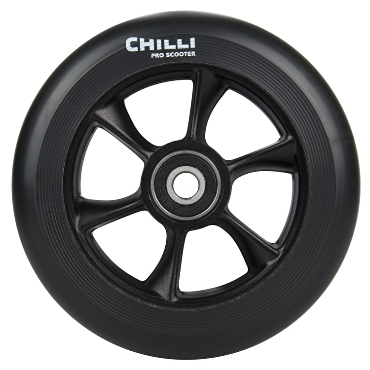Chilli Pro Turbo 110mm Scooter Wheel w/Bearings - Black/Black