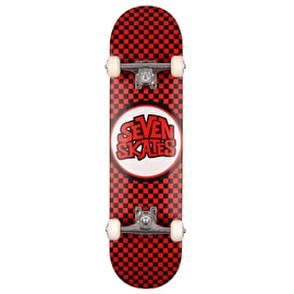 Seven Checkered Red Mini Complete Skateboard - 7.25