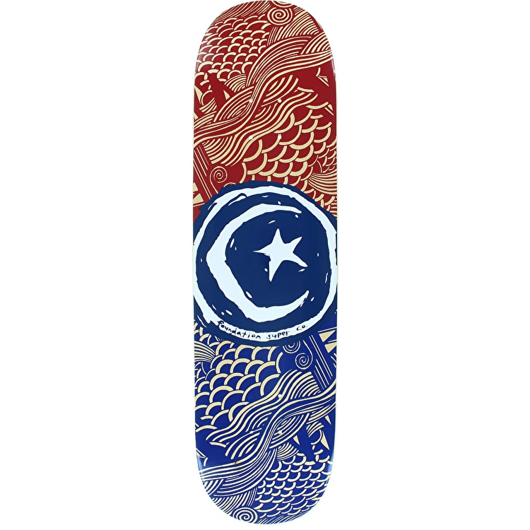 Foundation Star & Moon Waves Team Skateboard Deck - 8.125""