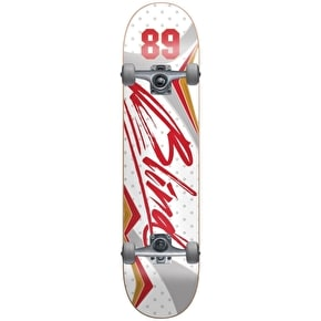 Blind VII Youth Complete Skateboard - White/Red 6.5''