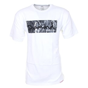 Diamond Marble Fill T-Shirt - White