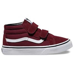 Vans Sk8-Mid Reissue V Kids Skate Shoes - (Canvas & Suede) Port
