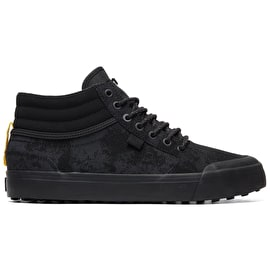 DC Evan Smith Hi WNT - Winterized High Top Skate Shoes - Black/Yellow