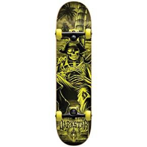 Darkstar Island Premium Youth Complete Skateboard - Yellow 7.25