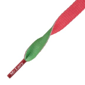 Mr Lacy Shoelaces - Clubbies Kelly Green/Red