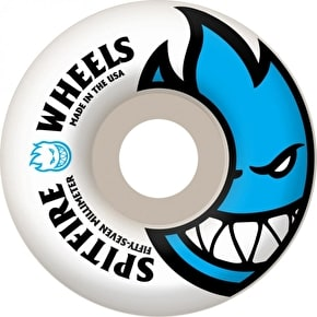Spitfire White Skateboard Wheels Bighead - Light Blue 57mm