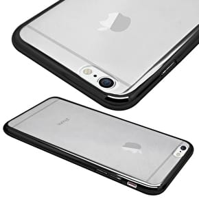 Aero Metallic Bumper Phone Case - Black