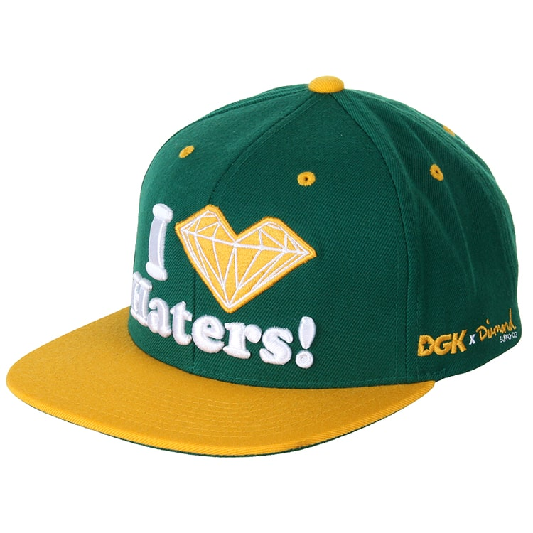 DGK x Diamond Haters Cap - Green/Yellow